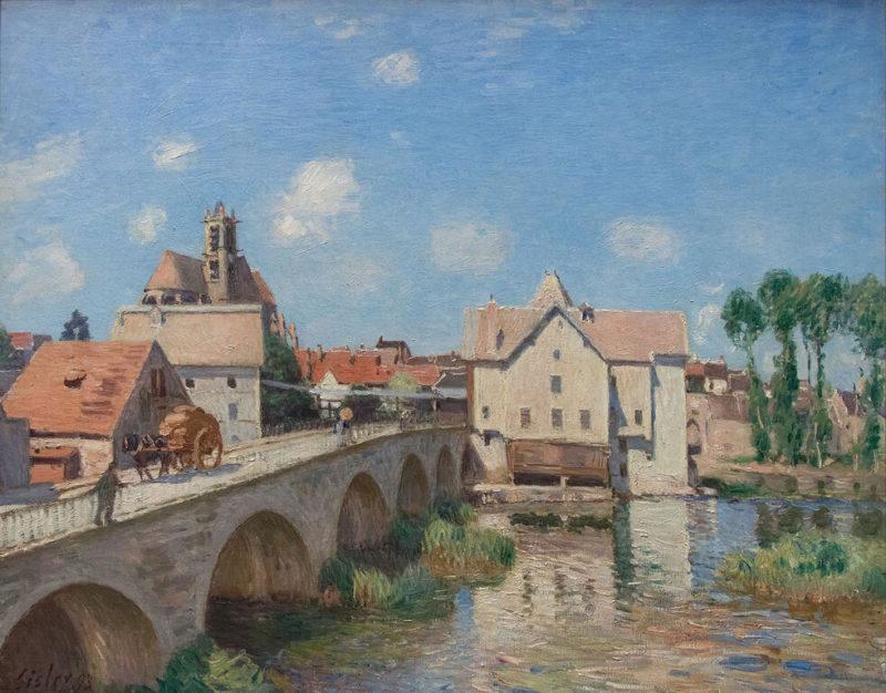 シスレー《 モレの橋 Le pont de Moret》オルセー美術館