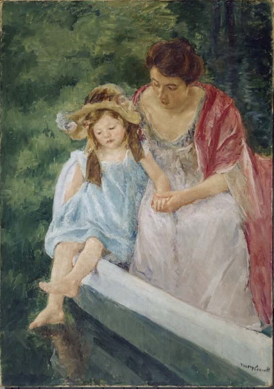 メアリー・カサット《ボートに乗る2人の母と子 Mother And Child In A Boat》プチ・パレ美術館