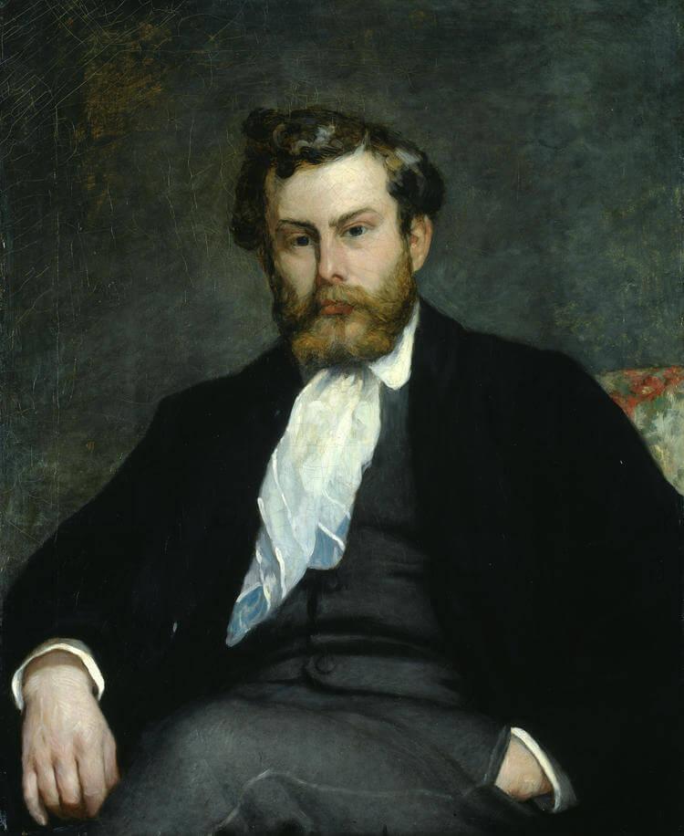 ルノワール《画家アルフレッドシスレーの肖像Portrait du peintre Alfred Sisley》スイスの実業家エミール・ゲオルク・ビュールレ