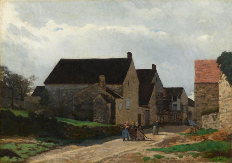 シスレー《森へ行く女たちRue de village à Marlotte》アーティゾン美術館