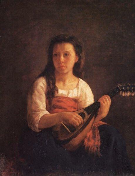 メアリーカサット《マンドリン演奏者 The Mandolin Player》個人蔵