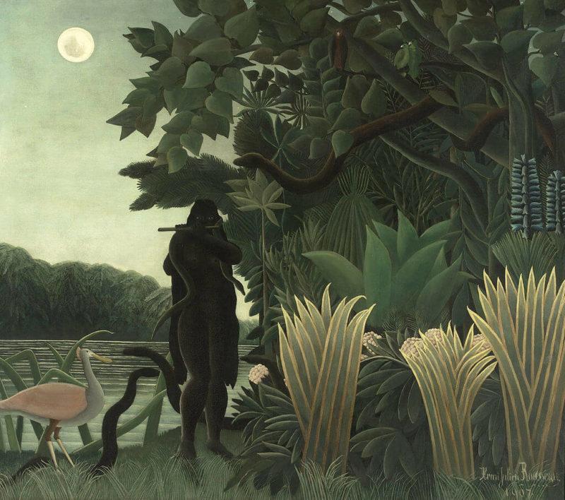 アンリ・ルソー《蛇使いの女 La Encantadora de Serpientes》オルセー美術館