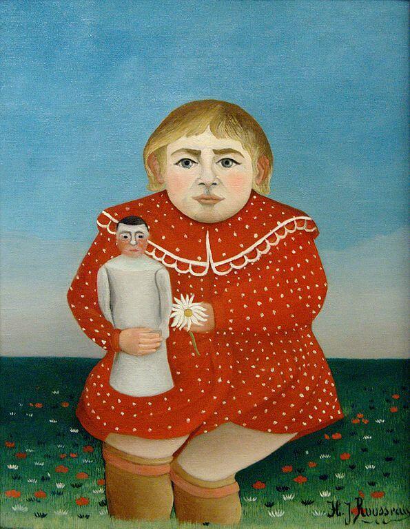 アンリ・ルソー《人形をもつ子供 L'enfant à la poupée》オランジュリー美術館