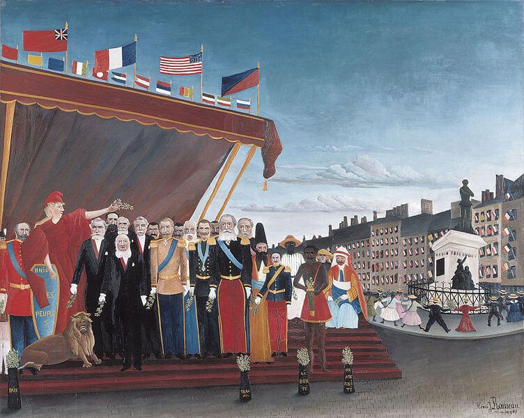 アンリ・ルソー《平和のしるしに共和国へ敬意を表して訪れた列国の代表者たち》パリ国立ピカソ美術館