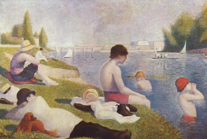 ジョルジュ・スーラ《アニエールの水浴Une Baignade, Asnières)》ナショナルギャラリー
