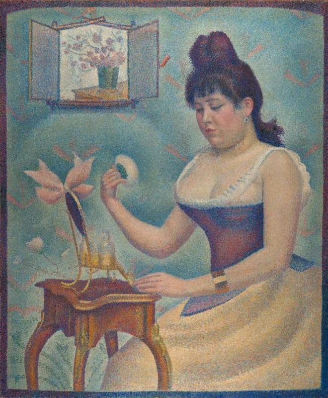 ジョルジュ・スーラ《化粧する若い女 Jeune femme se poudranu》コートールド美術館