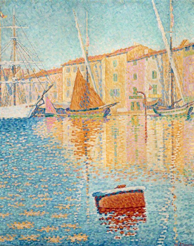 ポール・シニャック《赤い浮標 La bouee rouge》オルセー美術館