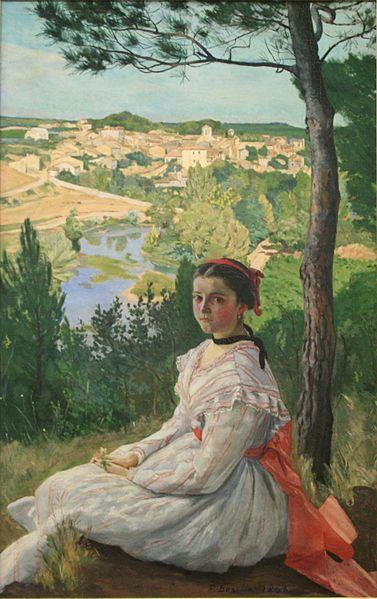 フレデリック・バジール《キャステルノー・ル・レズの村の眺め La Vue De Village》ファーブル美術館
