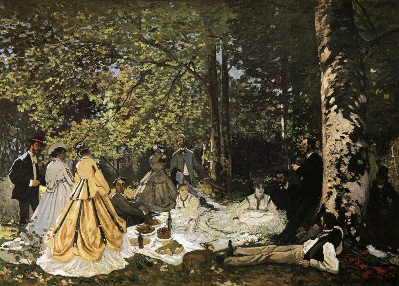 クロード・モネ《草上の昼食 Le Déjeuner sur l'herbe》プーシキン美術館