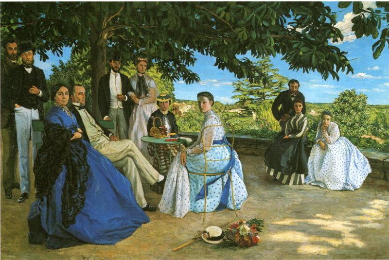 フレデリック・バジール《家族の集い Réunion de famille》オルセー美術館