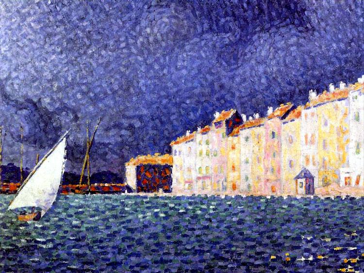 ポール・シニャック《赤い浮標 La bouee rouge》アノンシアード美術館