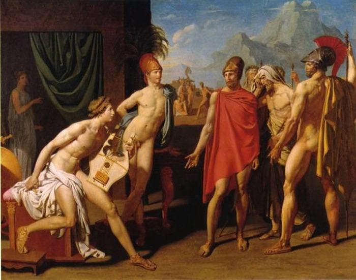 ドミニク・アングル《アガメムノンの使者たちを迎えるアキレウスAchille recevant les envoyés d'Agamemnon》エコール・デ・ボザール(国立美術学校)