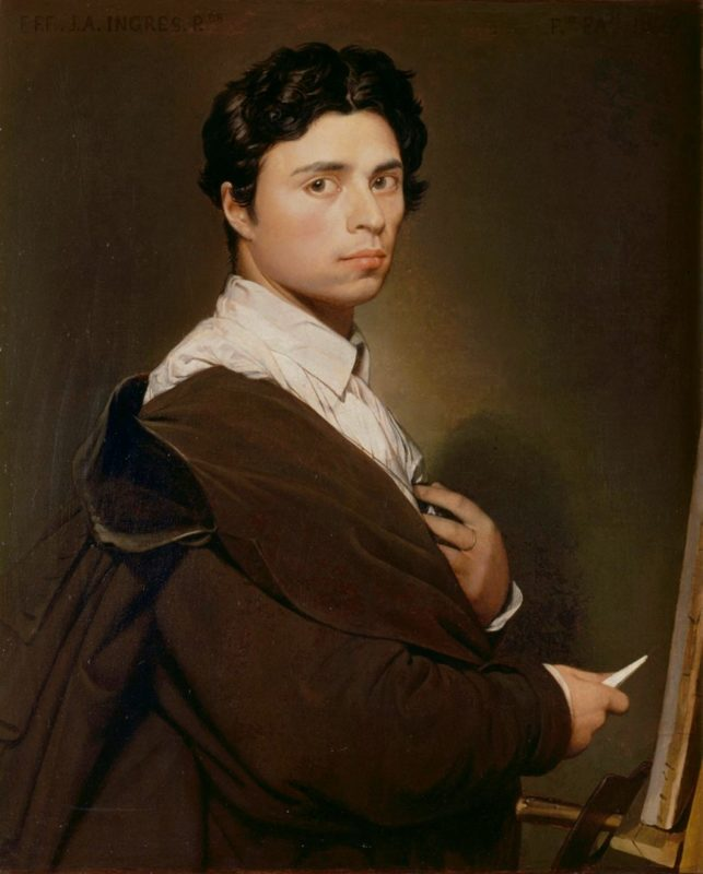 ドミニク・アングル《24歳の自画像》コンデ美術館