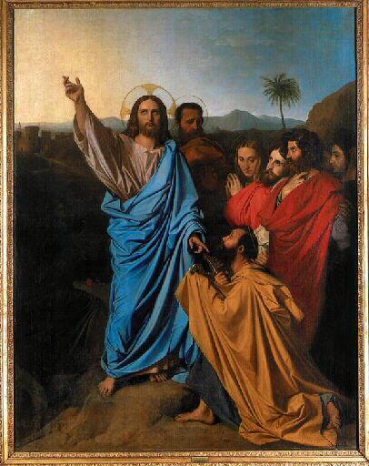 ドミニク・アングル《聖ペテロの天国の鍵の授与》アングル・ブールデル美術館