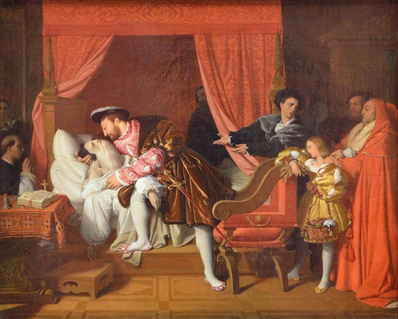 ドミニク・アングル《レオナルド・ダ・ヴィンチの死 La mort de Léonard de Vinci》パリ市立美術館/プチ・パレ