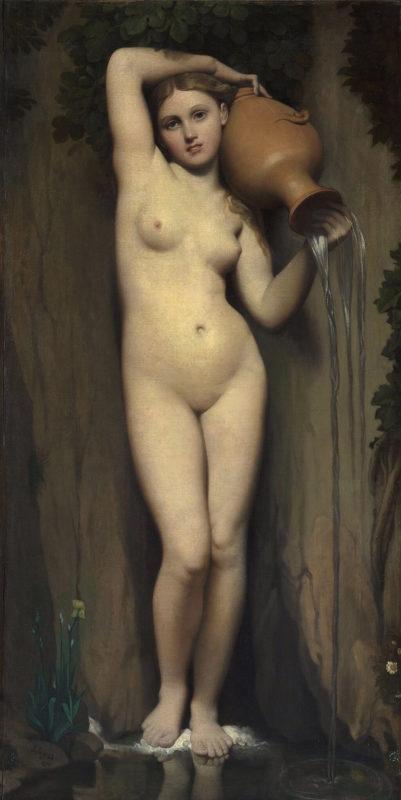 ドミニク・アングル《泉 La source》オルセー美術館