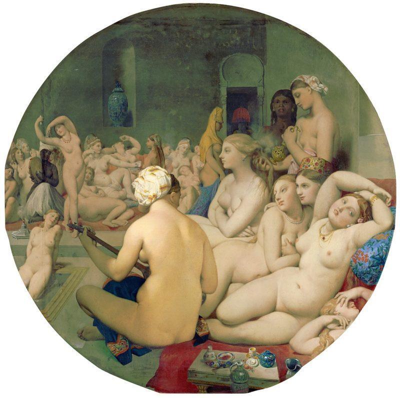 ドミニク・アングル《トルコ風呂 Le Bain Turc》ルーブル美術館