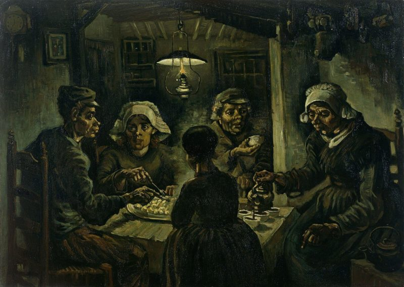 フィンセント・ファン・ゴッホ《ジャガイモを食べる人々 Les mangeurs de pommes de terre》ゴッホ美術館