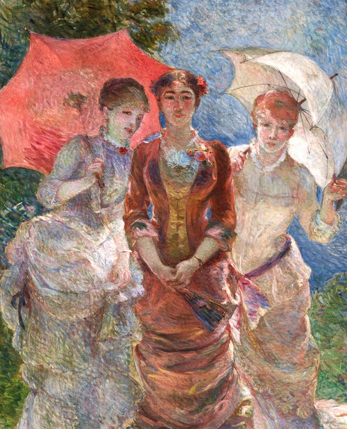 マリー・ブラックモン《日傘を持つ3人の女性》オルセー美術館