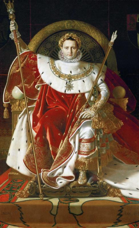 ドミニク・アングル《皇帝の座につくナポレオン1世》アンヴァリッド