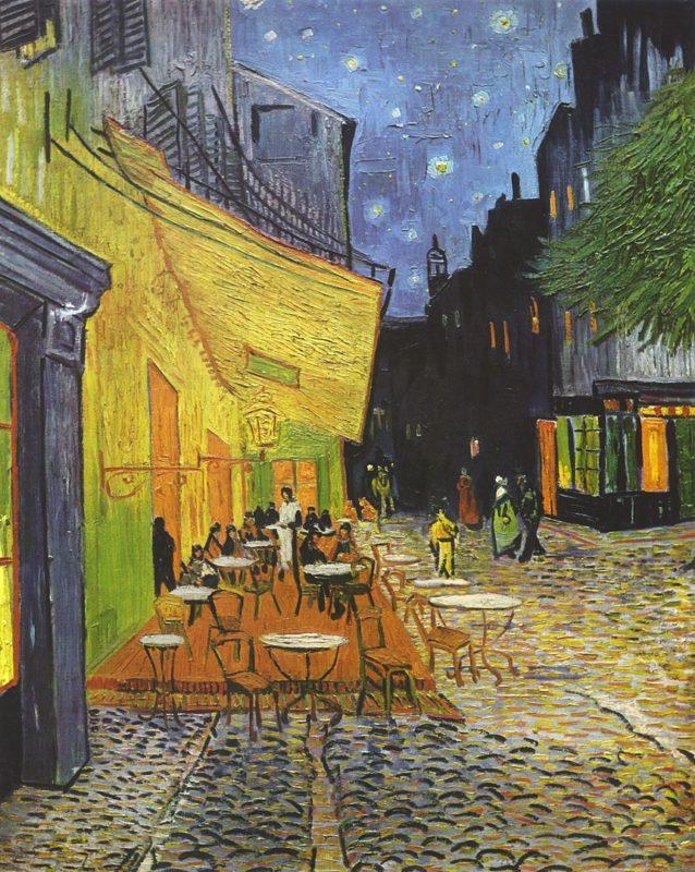 フィンセント・ファン・ゴッホ《夜のカフェテラス Terrasse du café le soir》クレラーミュラー美術館