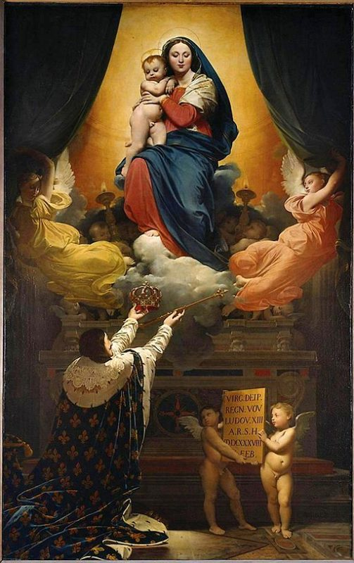 ドミニク・アングル《ルイ13世の誓願 Le Voeu de Louis XIII》モントーバン大聖堂