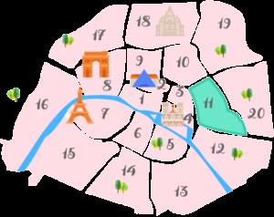 パリ11区の地図