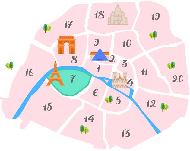 パリ7区の地図