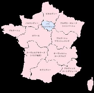 パリ郊外の地図